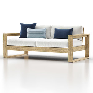 portside outdoor sofa 3D model
