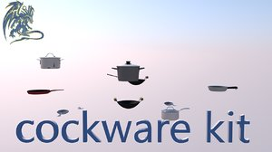 cookware kit 3D model