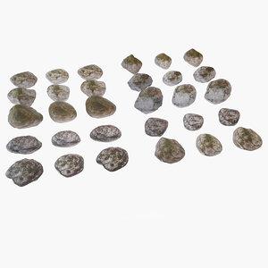 3D stones rocks