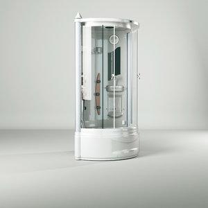 3D bathtub bath room massage model