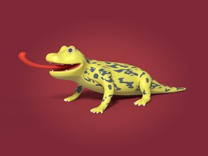 cartoon lizard 3D