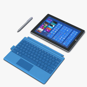 microsoft surface 3 rigged 3D