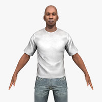 Casual Black Male Rigged