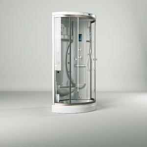 bathtub bath room massage 3D model