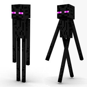 minecraft enderman rigged 3D