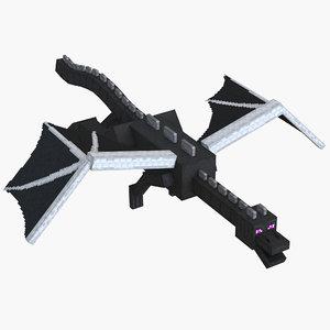 3D minecraft ender dragon rigged model