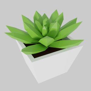 3D cartoon succulent plant pot