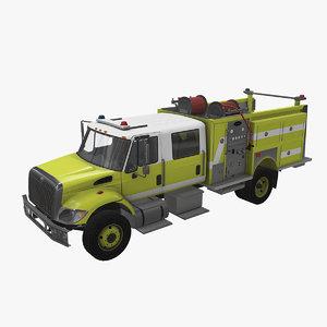 3D navistar truck firing car vehicle model