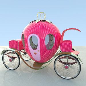 strawberry cart 3D model