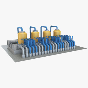 3D industrial element 6 model