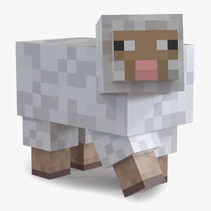 minecraft sheep rigged 3D