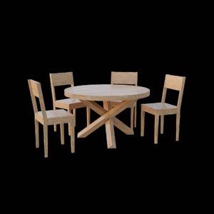 3D model table set