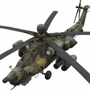 3D mi-28 russian attack model