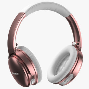 3D bose headphones gold rose