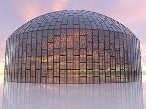 dome building metal 3D model