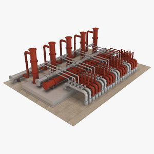 3D piping 1 model