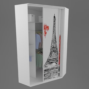 3D sliding door compartment