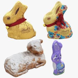 3D milka lindt bunny