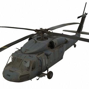 3D sikorsky uh-60 black hawk model