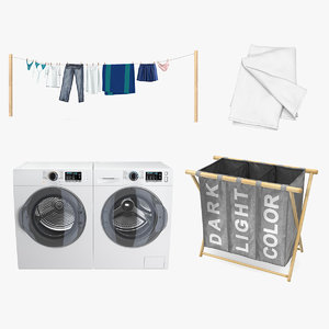 3D laundry 3 drying model