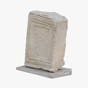 3D medieval stone block piece model