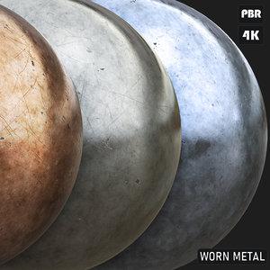 PBR Worn Metal textures