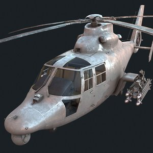 helicopter army china 3D model