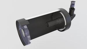 3D model telescope maksutov cassegrain