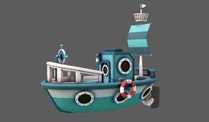 3D model ship v01