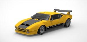 3D tomaso pantera gts car