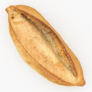 bread scanned 3D