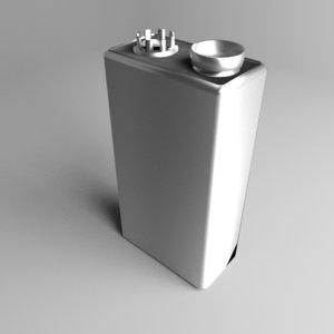 3D battery 9v cell