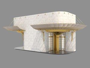 3D model entrance