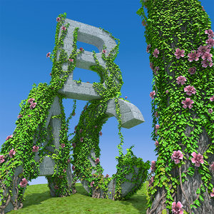 vines branchs 3D model