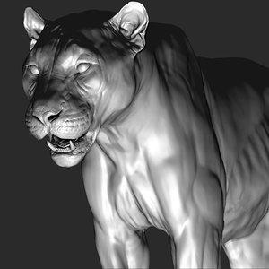 pantera onca vfx zbrush 3D