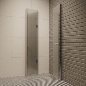 3D shower interior blender
