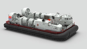 3D chinese lcac landing craft model