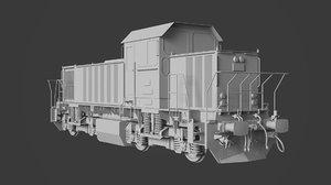 3D dhs131 locomotive train