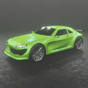 3D hussam car 22 model