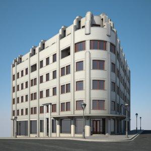 3D urban apartment building model