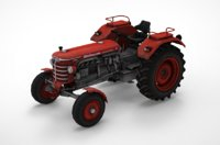 Low Poly Tractor Huerlimann D110 3D Model