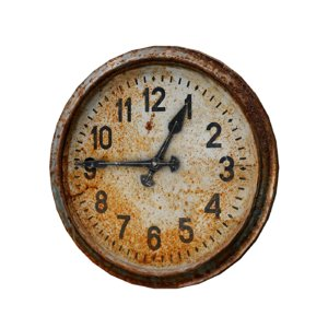 3D rusty old clock