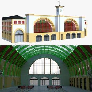 3D model railway station london