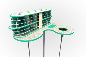 3D futuristic skyscraper
