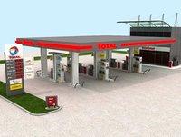 Total France Gasoline Station High Detail