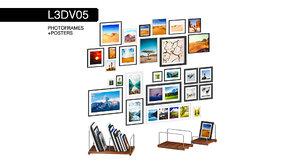 photoframes posters 3D model