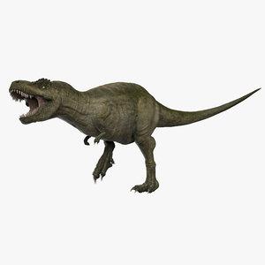 3D tyrannosaurus rex t-rex green