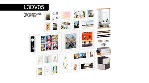 3D photoframes posters set
