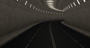 3D highway tunnel model