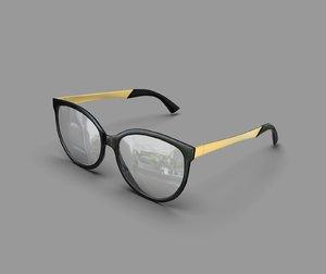 3D eye glasses model